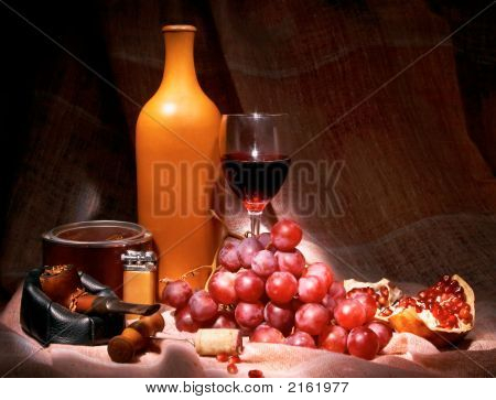 Wine, Tobacco, Grape, Garnet