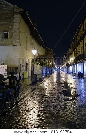Street In The Old Town Of Alcala De Henares, Spain Called