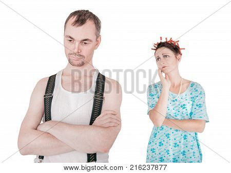 Funny Family Couple With Relationship Problem