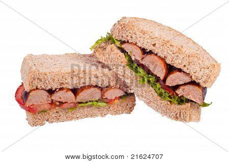 Rustic sausage sandwich