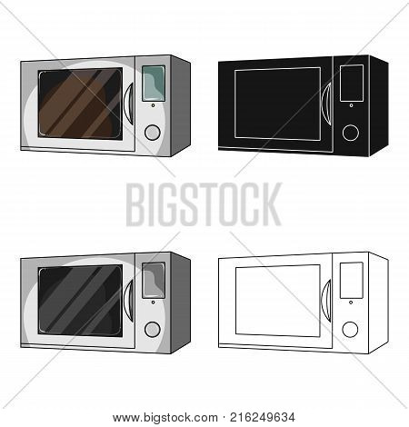 Microwave, single icon in cartoon style.Microwave, vector symbol stock illustration .