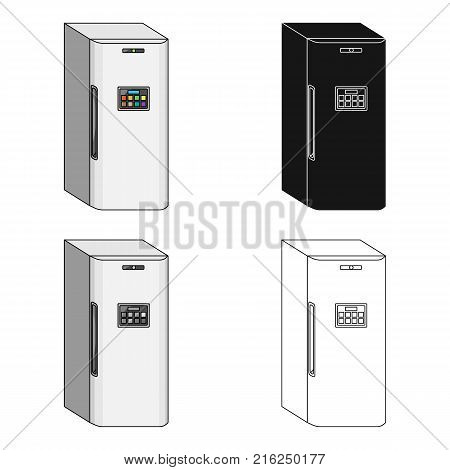 Refrigerator, single icon in cartoon style.Refrigerator, vector symbol stock illustration .