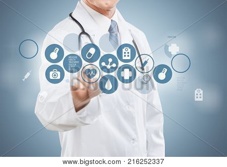 Young medical doctor icons medical icons medical equipment medical supplies