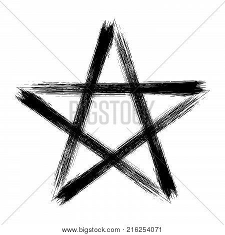 Pentagram Icon Brush Vector Photo Free Trial Bigstock