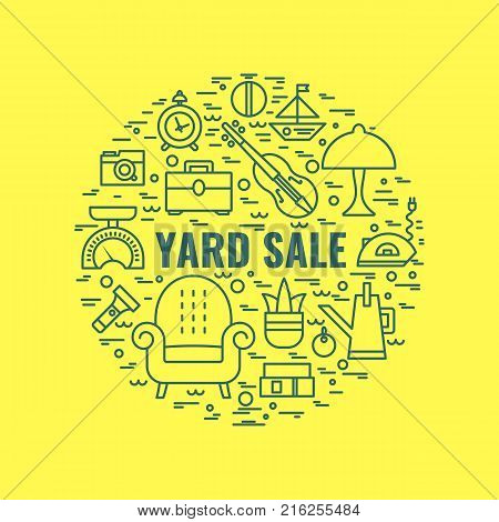 Yard Sale Sign Vector Photo Free Trial Bigstock