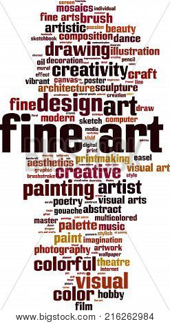 Fine art word cloud concept. Vector illustration