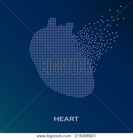 Creative Concept Background Of The Human Heart Anatomy. Medical Symbol Of Cardiology. Vector Illustration EPS.