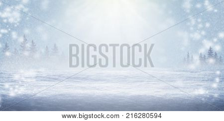 Sunny winter day. The snow shines in the sun. Frost. Winter background. Christmas New Year. Close-up. Deep snow. Nature background.