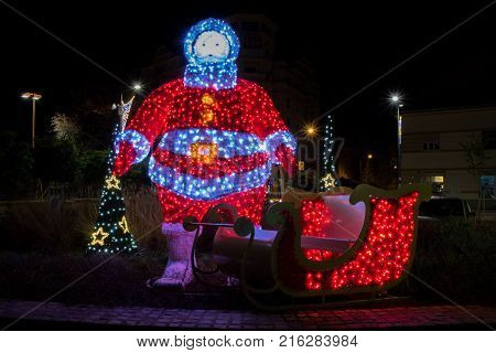Christmas light decoration and adornment on the streets