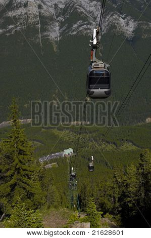 Gondola At Sulphur Mountain