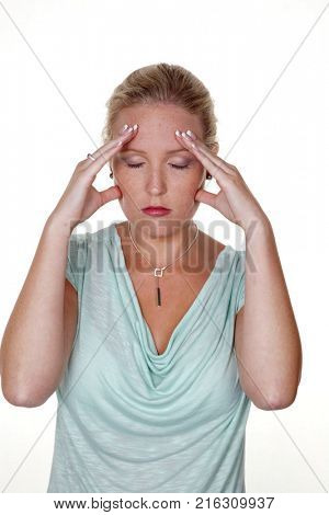 woman with migraine
