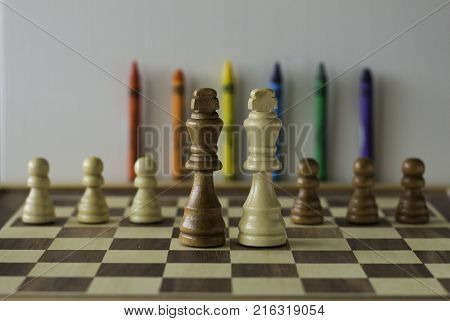 Wedding day (LGBTI movement) Queen chess pieces
