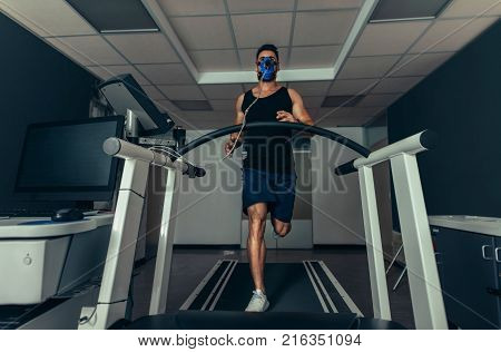 Athlete On Treadmill At Sports Science Lab