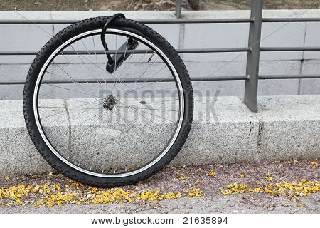 Wheel Of Stolen Bicycle
