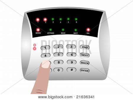 The Panel Of The Security Alarm System