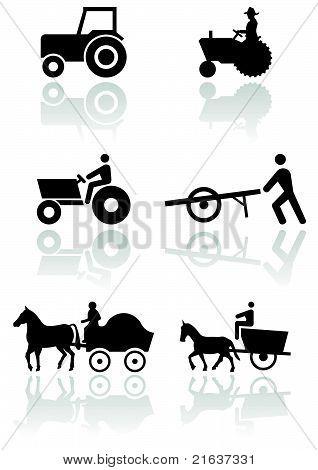 Farmer symbol vector set.