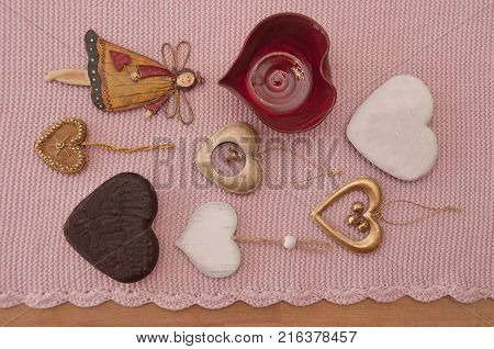 It i simage of decorations of love and romantic
