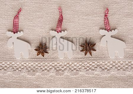 It is image of Christmas decorations and symbols