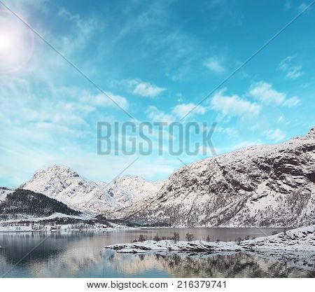 a beautiful view of the icy landscape in norway