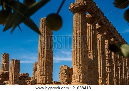 Valle dei Templi in Agrigento in Sicily Italy