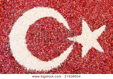 Turkish Flag Pattern In Exotic Spices