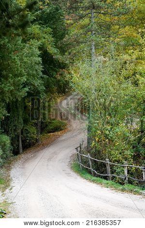 Autumn area of Umbria, Italy. Near Perugia .