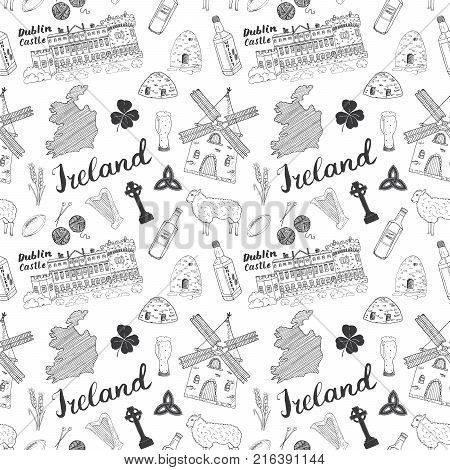 Sketch Map Of Ireland.Ireland Sketch Vector Photo Free Trial Bigstock