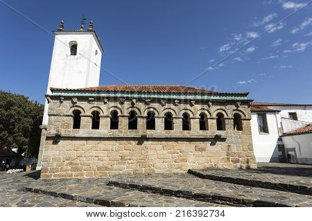 The Romanesque building of the Domus municipalis in Braganca Portugal