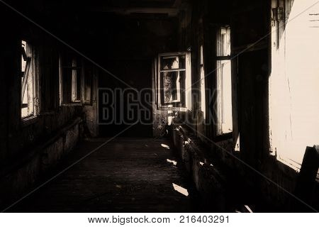 Abandoned Hospital Horror abyss old black scary