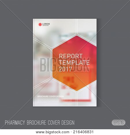 Medical brochure cover template Layout. Pharmacy brochure cover template layout. Applicable for catalog template, leaflet Layout, annual report cover layout, flyer or poster for pharmacy company.