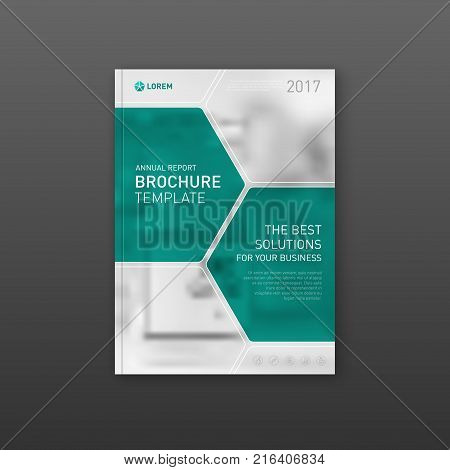 Medical brochure cover template, flyer design layout. Applicable for catalog, leaflet, flyer or poster for pharmacy business.