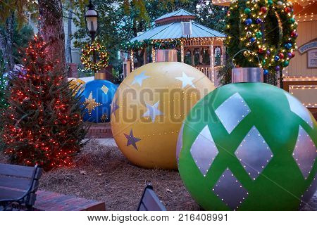 Very large Christmas decorations for the holidays