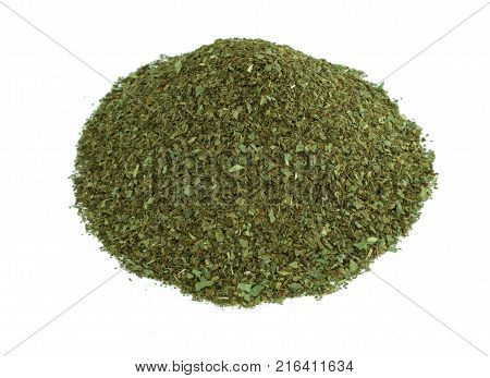 Dried Basil Aromatic Herbs Background
