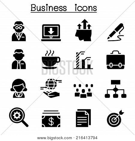 Business management icon set vector illustration graphic design