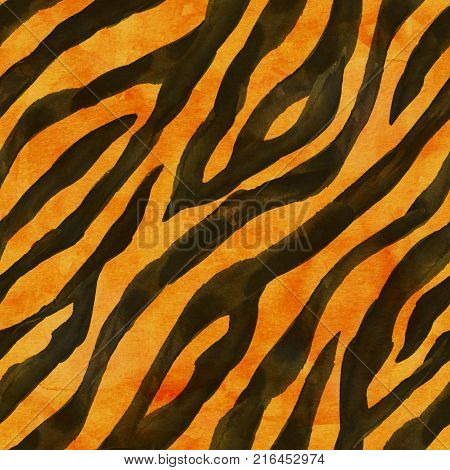 Tiger Skin Seamless Background