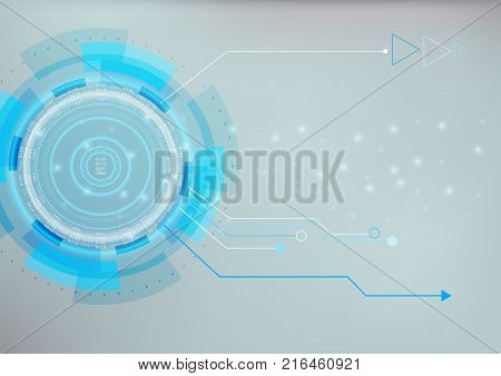 Abstract futuristic data and modern management of technology that can use for business presentation. Digital and Innovation concept.