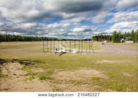 Kotka, Finland - September 17, 2017: Interior View Of The Aviation Museum In Kotka.