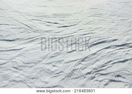 Snowdrift  texture. Snow texture with big snow-crystals and waves.