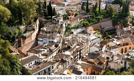 Panorama of Granada from the Alhambra Spain