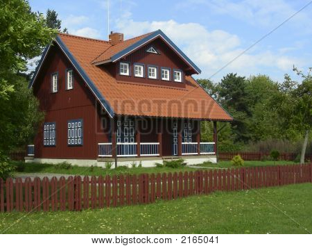 Old-stile house in Lithuanina's countryside at Nida poster