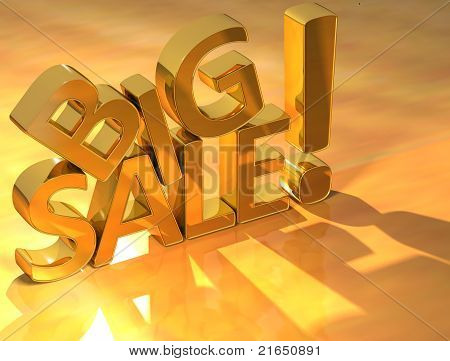 Big Sale Gold Text