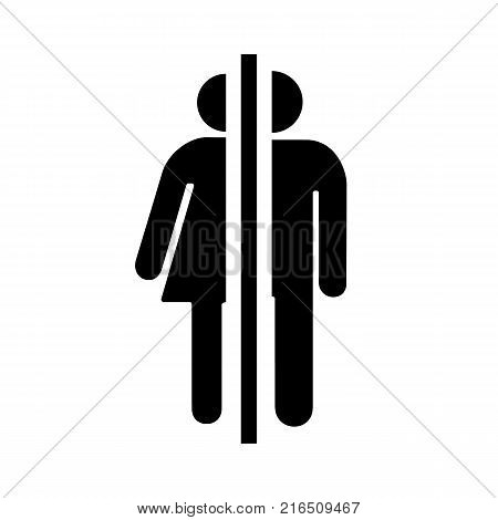 Sign, icon male and female toilet. Vector illustration