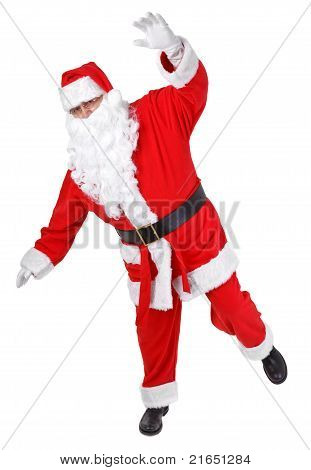Funny Pose Of Santa Claus