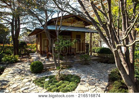 House japanese garden in Monte Carlo Monaco France
