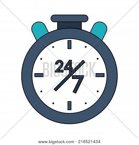 Twenty Four Hours Seven Days Service Symbol