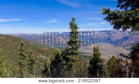 Vista Point at san Juan National Forest in Durango, CO