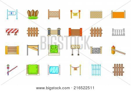 Barrier icon set. Cartoon set of barrier vector icons for your web design isolated on white background