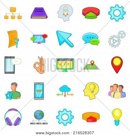 Sales department icons set. Cartoon set of 25 sales department vector icons for web isolated on white background