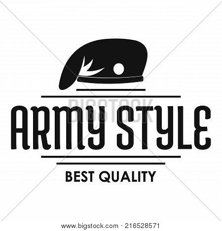 Army style logo. Simple illustration of army style vector logo for web