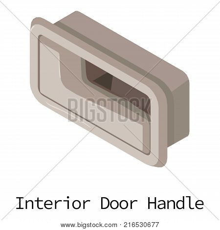 Door handle car icon. Isometric illustration of door handle car vector icon for web